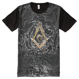 Masonic Minds (Yellowish) All-Over Print T-Shirt