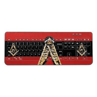 Masonic Minds (Yellowish) Wireless Keyboard