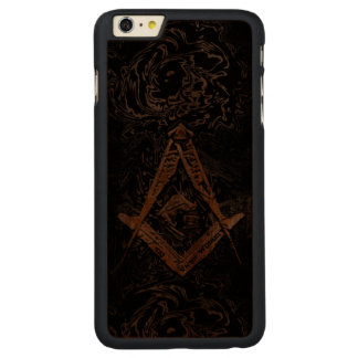 Masonic Minds (YellowSwish) Carved Walnut iPhone 6 Plus Case