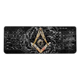 Masonic Minds (YellowSwish) Wireless Keyboard