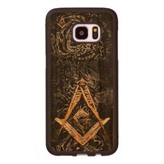 Masonic Minds (YellowSwish) Wood Samsung Galaxy S7 Edge Case