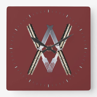 Masonic MouthsSs Square Wall Clock