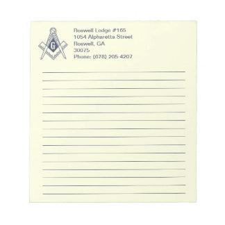 Masonic Note Pad