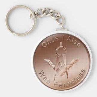 Masonic Penny Key Ring