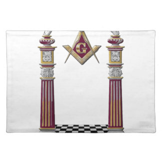 Masonic Pillars Placemat