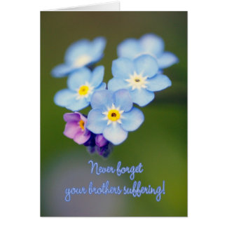 Masonic Remembrance Day - Wood Forget-me-not Card