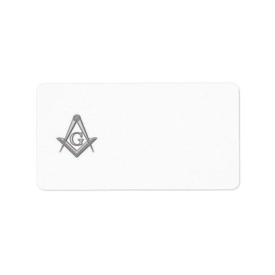 Masonic return address label