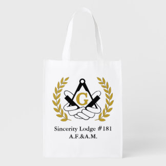 Masonic reusable grocery bag