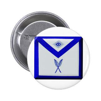 Masonic Secretary Apron 6 Cm Round Badge