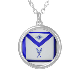Masonic Secretary Apron Silver Plated Necklace