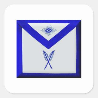 Masonic Secretary Apron Square Sticker