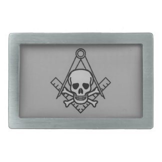Masonic Skull and Crossbones Belt Buckle