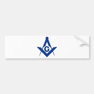 Masonic Square and Compass Bumper Sticker