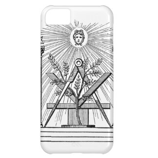 Masonic square and compass iPhone cover