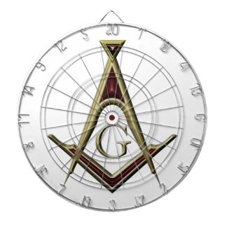 Masonic Square & Compass Dartboard