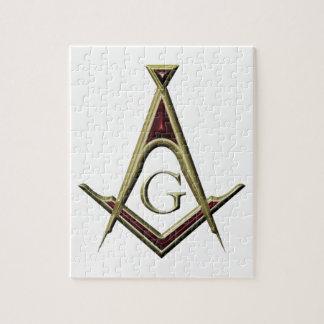 Masonic Square & Compass Jigsaw Puzzle