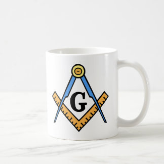Masonic Square & Compasses Coffee Mug
