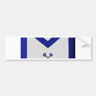 Masonic Treasurer Apron Bumper Sticker