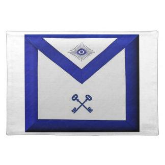 Masonic Treasurer Apron Placemat