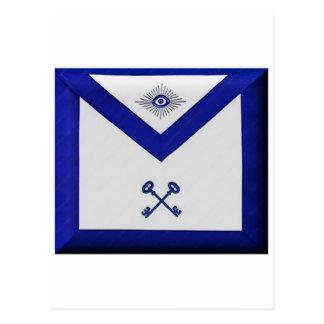 Masonic Treasurer Apron Postcard
