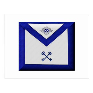 Masonic Treasurer Apron Postcard
