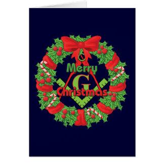 Masonic Wreath Card