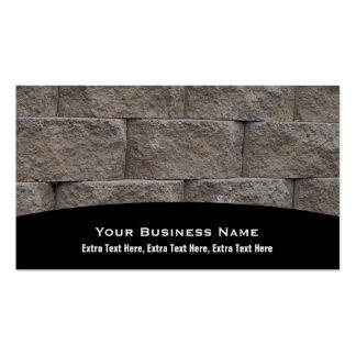 Masonry Brick Wall Business Cards