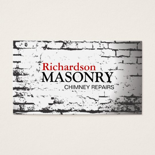 Masonry business card zazzlecomau for Masonry business card ideas