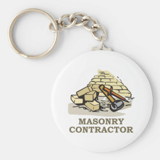 MASONRY CONTRACTOR BASIC ROUND BUTTON KEY RING