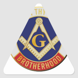 Masons Brotherhood Triangle Sticker