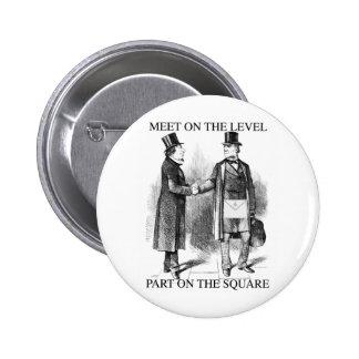 Masons Meeting 6 Cm Round Badge