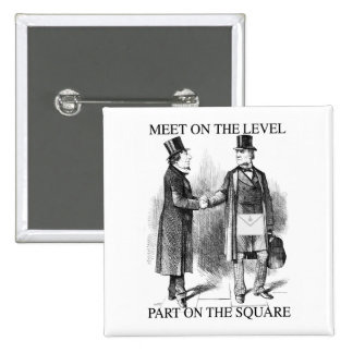 Masons parting on the square 15 cm square badge