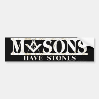 Masons Stones Bumper Sticker