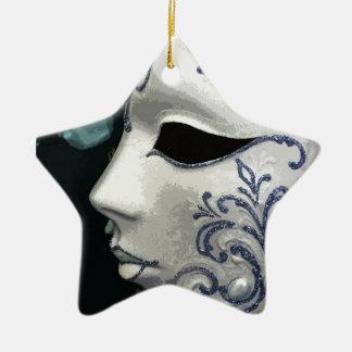 MASQUERADE 2 (blue) Ceramic Ornament