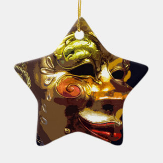 MASQUERADE 3 CERAMIC STAR DECORATION