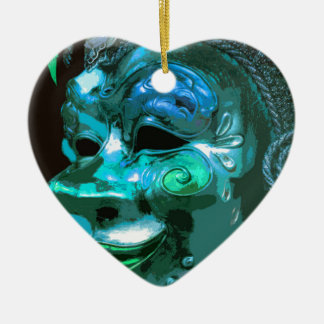 MASQUERADE 4 CERAMIC HEART DECORATION