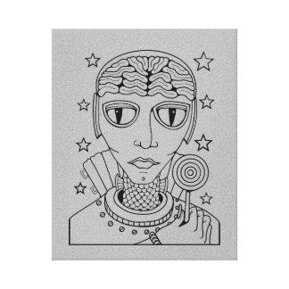 Masquerade Alien Lollipop Linaert Design Canvas Print