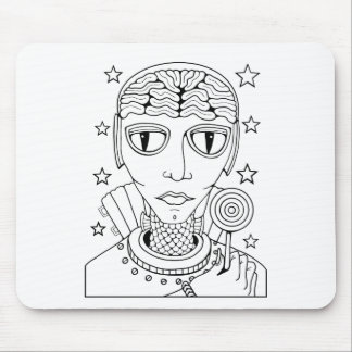 Masquerade Alien Lollipop Mouse Pad
