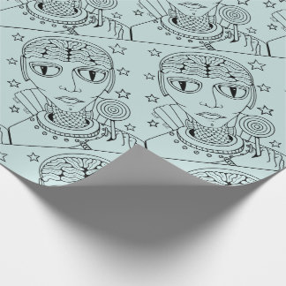 Masquerade Alien Lollipop Wrapping Paper