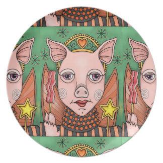 Masquerade Bacon Fairy Princess Color Design Plate