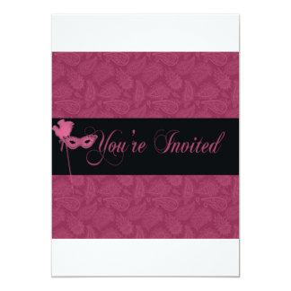 """Masquerade ball invite 2 5"""" x 7"""" invitation card"""