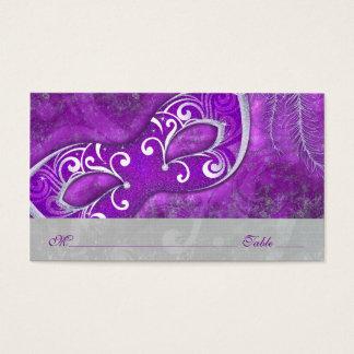 Masquerade Ball Mask PurpleWedding Place Cards