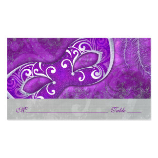 Masquerade Ball Mask PurpleWedding Place Cards Pack Of Standard Business Cards