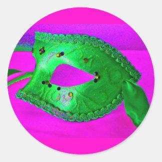 Masquerade Bash Classic Round Sticker