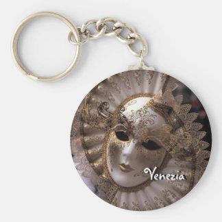 Masquerade Basic Round Button Key Ring