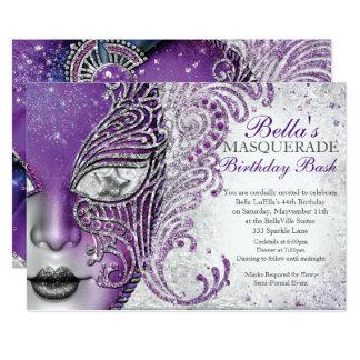 Masquerade Birthday Party Invitations