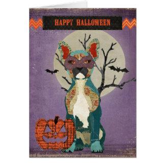 Masquerade Bulldog Halloween Card