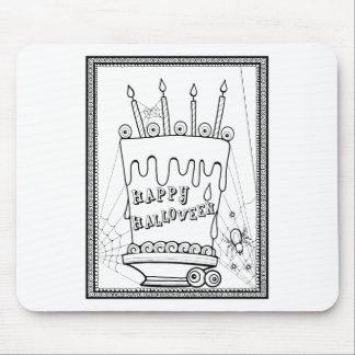 Masquerade Cake Line Art Design Mouse Pad