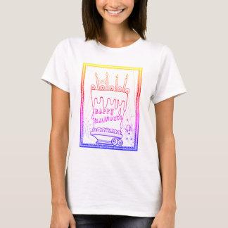 Masquerade Cake Line Art Design T-Shirt