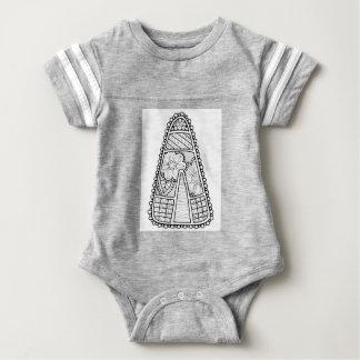 Masquerade Candy Corn Line Art Design Baby Bodysuit